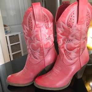 Sbicca Shoes - SBicca Brand Beautiful Pink Cowboy Boots Size 7